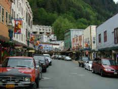 Juneau, Alaska, Holland America cruise 2007 our first stop on the Alaska cruise, did a bus tour, and of course shopped probably on this street Oh The Places You'll Go, Great Places, Places To Travel, Places Ive Been, Beautiful Places, Places To Visit, Alaska Juneau, Alaska Trip, Dream Vacations