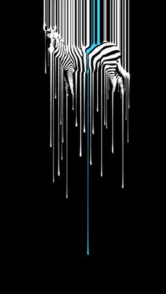 Dripping Zebra #art