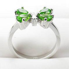 Sterling silver peridot gemstone butterfly ring gemstone jewelry :  gemstones butterfly jewelry classic treasures