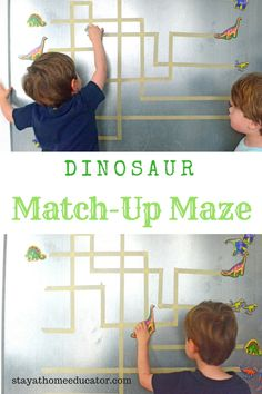 How to Encourage Learning with a Preschool Dinosaur Game - learn about preschool literacy skills Dinosaur Theme Preschool, Dinosaur Games, Preschool Curriculum, Preschool Lessons, Lessons For Kids, Dinosaur Printables, Preschool Learning, Preschool Crafts, Early Math