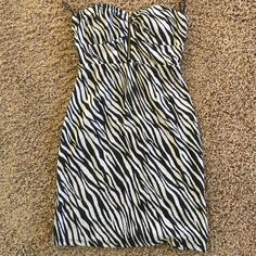 Abstract Lines Black And White Party Dress