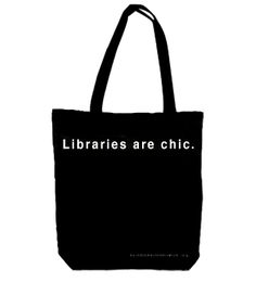 libraries are chic tote