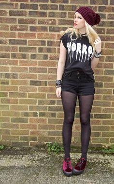 Get this look (shirt, shorts, tights, shoes, hat, bracelet) http://kalei.do/WQ1vXWWq2x3qfZ0Y
