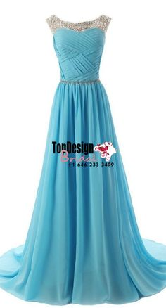 Wholesale Vestidos De Fiesta New 2017 Turquoise Bateau Rhinestones Long Chiffon Prom Evening Pageant Dress