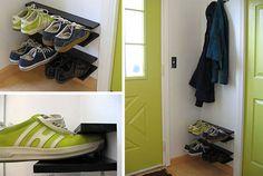 diy hanging shoe racks, so simple!