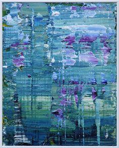 Koen Lybaert - Giverny 004 [Abstract N° 1513] - oil on canvas on wood panel [50 x 40 x 0.5 cm] / 2016