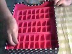 Organizador de artes, usando moldes para hielo.