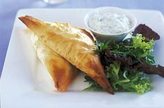 Unlock exotic aromas and fabulous flavours in these filo triangles.