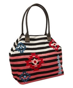 Loving this Black & Rose Dip-Dyed Geo Tote on #zulily! #zulilyfinds Cute with  Jeans  $34.99  Christian  Livingston