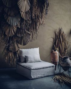 decorating with dried palm fronds. / sfgirlbybay