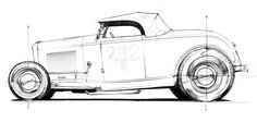 32 Ford on 32 rails Weird Cars, Cool Cars, Car Drawings, Pencil Drawings, Render Design, Baby Bike, Metal Fab, 32 Ford, Go Kart