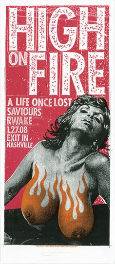 GigPosters.com - High On Fire - A Life Once Lost - Saviours - Rwake
