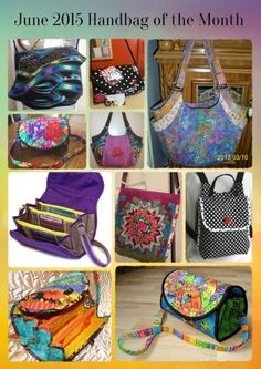 New month...new contest, and wow do we have some awesome entries for June! Check the pics and backstory here and don't forget to vote for YOUR favorite too!---  June 2015 Handbag of the Month | Studio Kat Designs