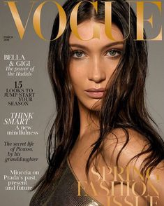 "6 Likes, 1 Comments - isabella khair hadid (@ballahahid) on Instagram: ""@BellaHadid on the cover of Vogue UK March 2018. Photographed by #stevenmeisel"""