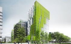In Vivo wins the Réinventer Paris competition Bartlett School Of Architecture, Green Architecture, Concept Architecture, Sustainable Architecture, Paris Architecture, In Vivo, Building Facade, Green Building, Building Plans