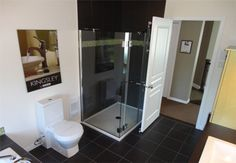 shower with glass doors |Pro-Fab