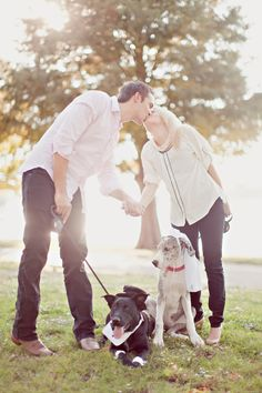 <p>Hooray for engagement shoots with pets—and we're especially partial to pups! Kris and Lauren's lakeside photos in Dallas are the perfect family photos. Their two beautiful babies joined them to celebrate their engagement, and we just love the laid-back, playful photos from Matt and Ivy Photography!</p> </p> </p> </p> </p> <p>Photography – Matt and Ivy Photography</p>