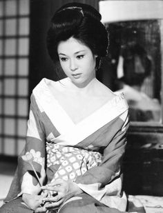 """Ayako Wakao in """"Shadow of the Waves"""" (波影), 1965"""