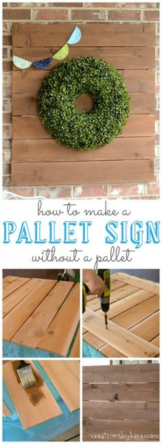 Love pallet signs but have no pallet? Now you can make a rustic wood sign without one!