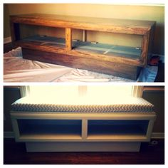 Tv console to window bench :)