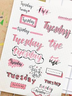 Bullet Journal Font Ideas for Everyday of the Week - The Smart Wander