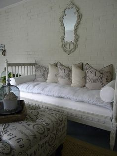 Daybed and down pillows.... could use this now!!!!