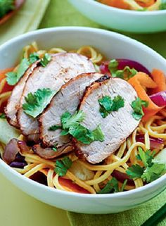 Low FODMAP Recipe and Gluten Free Recipe - Sticky pork & noodles  http://www.ibssanoplus.com/sticky_pork_noodles.html