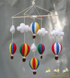 primary color baby mobile - Bold colors baby mobile - Red green blue yellow baby mobile on Etsy, $70.00
