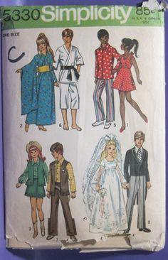 "Vintage Simplicity Doll Wardrobe for 11 5"" Doll Pattern 5330   eBay"