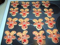 Gingerbread Reindeer!  Another use for Gingerbread Man cookie cutters.
