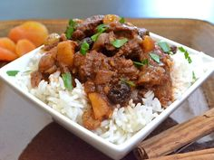 moroccan beef stew - substitute rice for cauliflower rice!