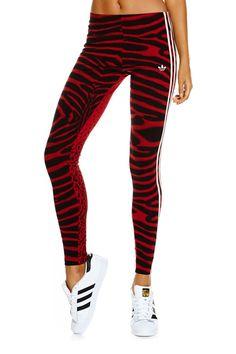 Adidas tiger/cheetah print tights 2015