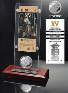 Super Bowl 15 Ticket & Game Coin Collection