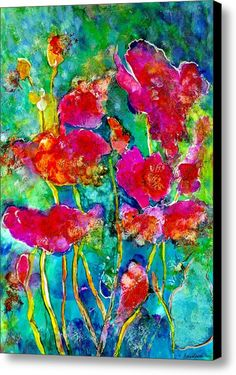 Jazzy Poppies Canvas Print / Canvas Art By Alexis Bonavitacola