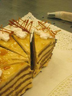 Sütikert: Schönbrunni kastély torta Hungarian Desserts, Muffins, Torte Cake, Ciabatta, Confectionery, Macarons, Oreo, Waffles, Cake Recipes