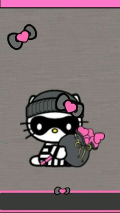 Hello Kitty Tattoos, Hello Kitty Art, Hello Kitty Coloring, Hello Kitty Birthday, Glitter Wallpaper, Apple Wallpaper, Pink Wallpaper, Colorful Wallpaper, Hello Kitty Backgrounds