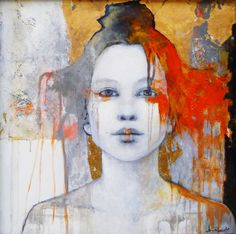 The Background and the use of color. the art room plant: Joan Dumouchel L'art Du Portrait, Abstract Portrait, Art And Illustration, Figure Painting, Painting & Drawing, Art Visage, Figurative Kunst, Kunst Online, Art Design
