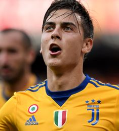 GENOA, ITALY - AUGUST Paulo Dybala of Juventus FC celebrates after scoring the second goal during the Serie A match between Genoa CFC and Juventus at Stadio Luigi Ferraris on August 2017 in Genoa, Italy. (Photo by Claudio Villa. Juventus Fc, Juventus Players, Manchester United, Messi, Football Hits, Genoa Cfc, Football Players, Fifa, Sexy Men