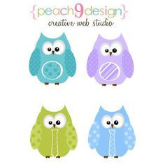 Spring Owls Digital Clip Art DIY Printable, Scrapbooking, Card Making, Elements S2         April 20, 2014 at 10:22PM