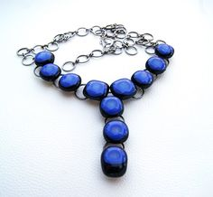 Fused glass accesories in shades of blue on Behance