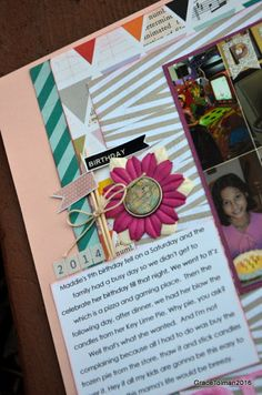 "In my shoes: ""It's your birthday today"" layout"
