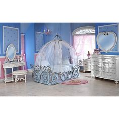 Disney Princess Carriage Bed with Sheer Fabric (frame sold separately)