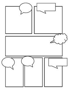 Comic Templates by Miss Zucchetto Comic Book Layout, Comic Book Style, Comic Books, Comic Strip Template, Comic Strips, Letras Comic, Comics Story, Cute Comics, Manga Comics