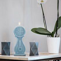Świeca Zegar błekit paryski, dodatki - świeczniki i świece