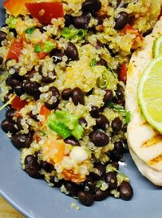 Healthy Low Calorie Recipes: Quinoa with Black Beans