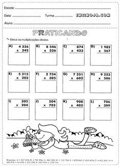 Atividades de matemática 4° ano selecionadas para imprimir que ajudará no desenvolvimento escolar dos alunos do 4° ano do ensino fundamental.