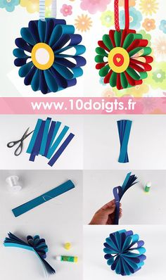 Creative for Kids Spring Crafts Preschool Paper Flowers For Kids, Paper Crafts For Kids, Spring Crafts, Preschool Crafts, Diy Paper, Christmas Crafts, Diy Crafts, Diy Flowers, Quilling Flower Designs