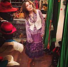 Sachi looks so cute in her Indian cotton dress and boots she scored at the shop! #vintage #cutecustomer #happycustomer #indiancotton #indiancottondress #boho #bohemian #laurelcanyon #crochet #crochetvest #1970s #hippie #echopark #eaglerock #atwater #silverlake #losfeliz #highlandpark #hollywood #losangeles #lemonfrogshop