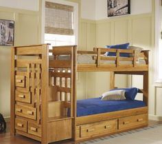 My dad is building me a bunk bed... it should look like this if you ask me.