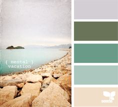 color palette - mental vacation